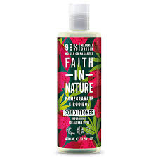 Faith in Nature Kondicionieris Granātābols un Roibušs visiem matu tipiem 400ml x 6
