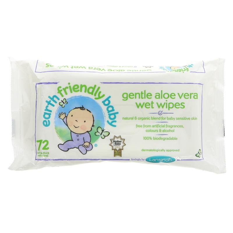 Earth Friendly Baby Eco Mitrās salvetes 72 gb. x 1