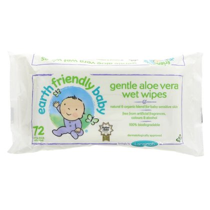 Earth Friendly Baby Eco Mitrās salvetes 72 gb. x 12